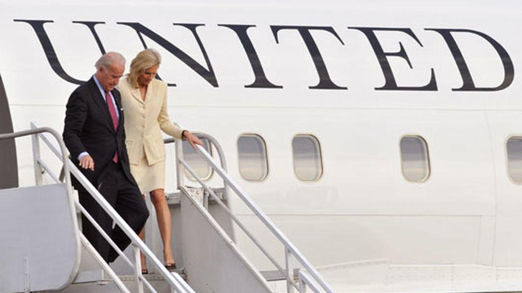 Joseph Biden y su mujer llegan a Costa Rica