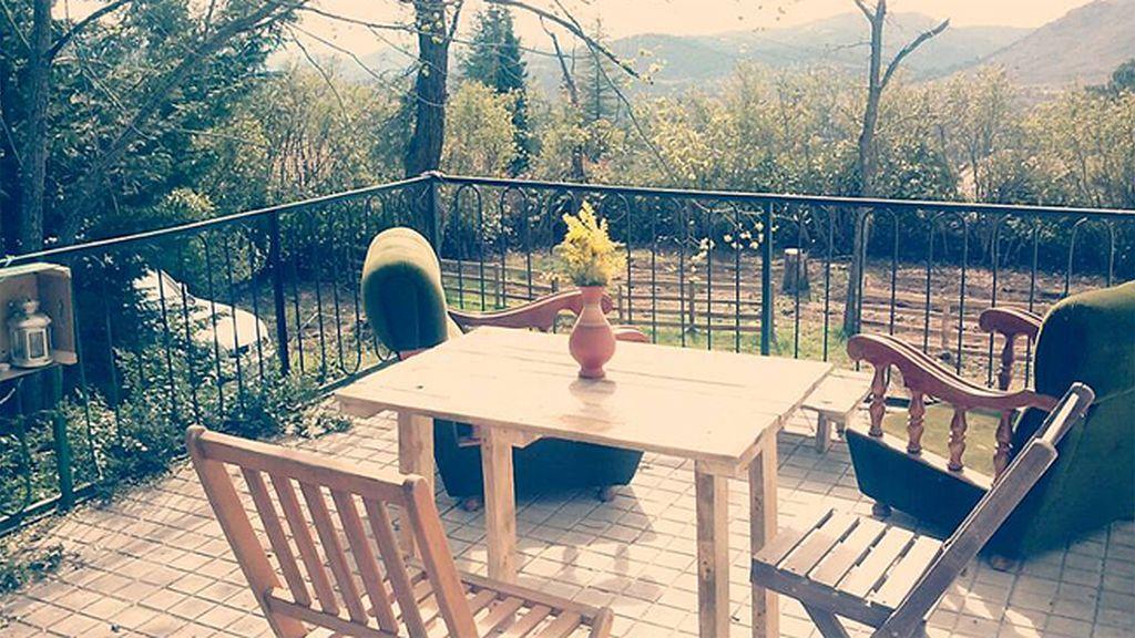 El 'punto d' de Rosa Gil, esta acogedora terraza rodeada de naturaleza