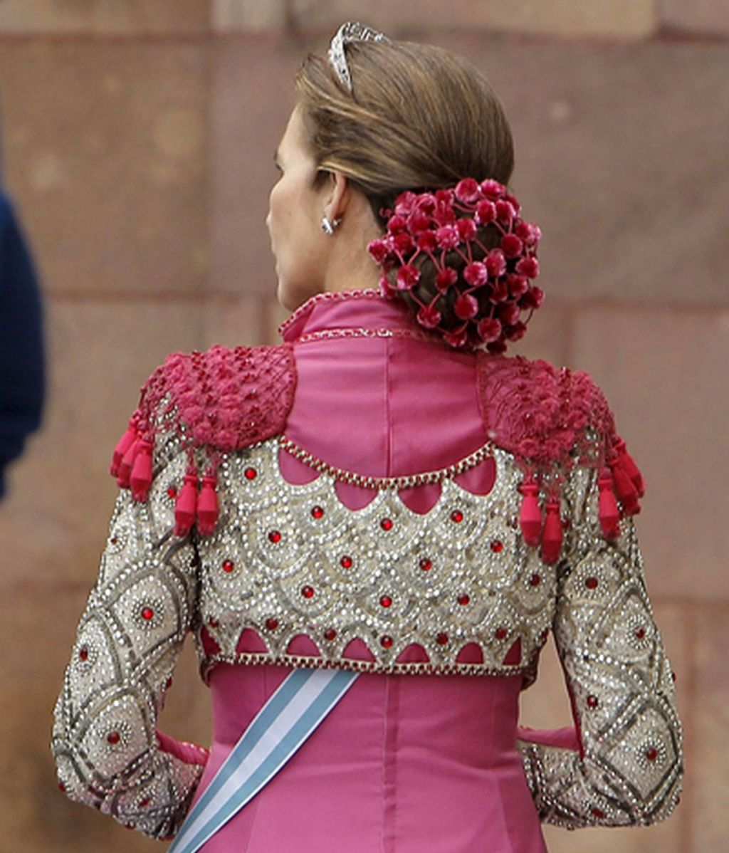 El detalle de un elegante vestido