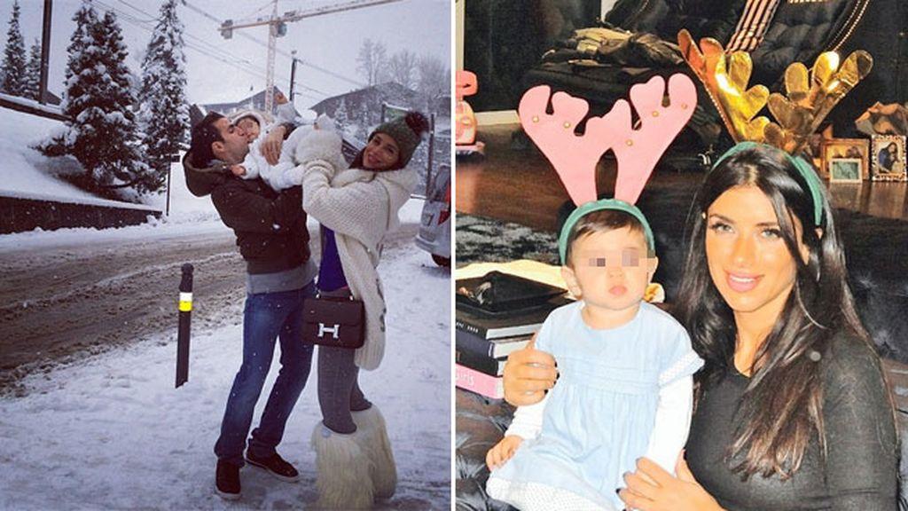 Cesc Fábregas y Danielle Semaan se fueron a la nieve