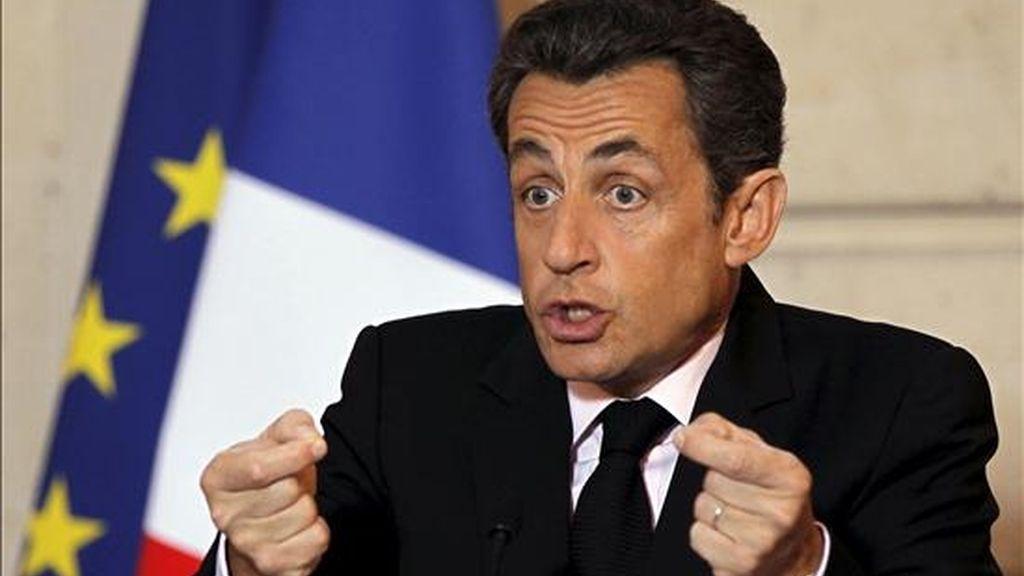 El presidente francés, Nicolás Sarkozy. EFE/Archivo