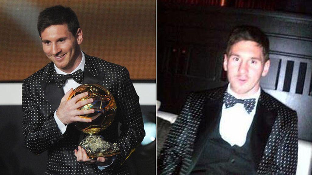 Messi, balón de oro por cuarta vez consecutiva, acudió sin su mujer y su hijo