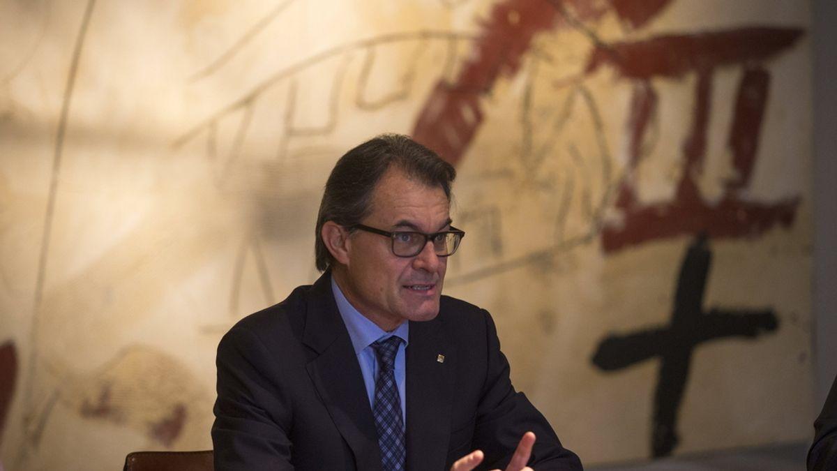 Artur Mas en la reunión del Govern tras el 9N