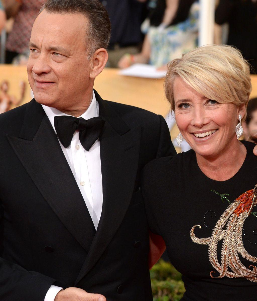 Tom Hanks posó junto a Emma Thompson