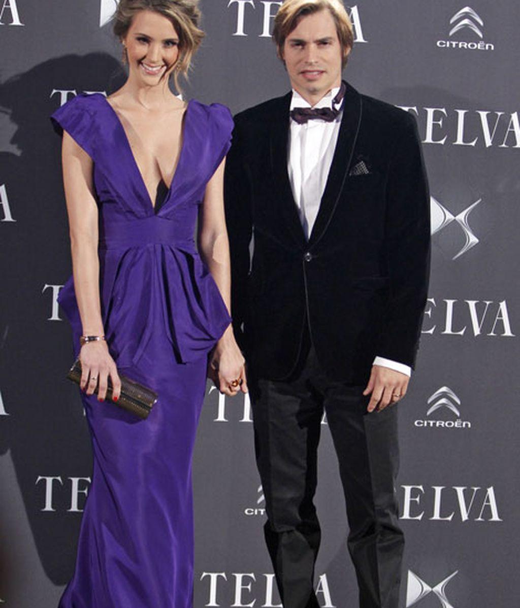 Carlos Baute acudió acompañado por su mujer, Astrid Klisans