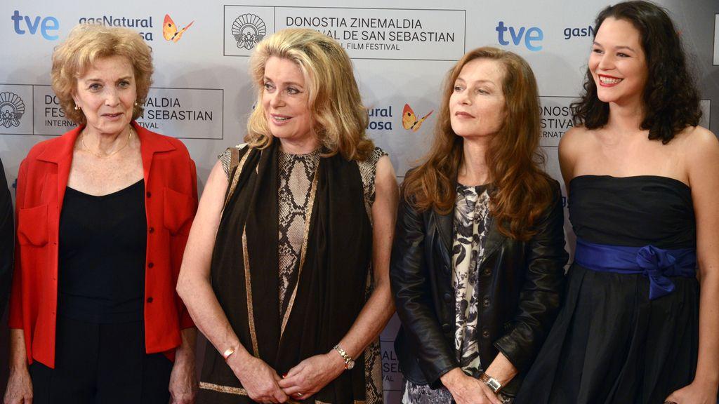 Marisa Paredes, Catherine Deneuve e Isabelle Huppert