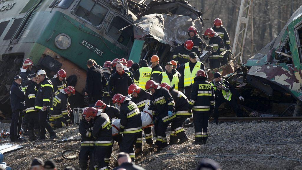 Imágenes del coche de trenes en Polonia