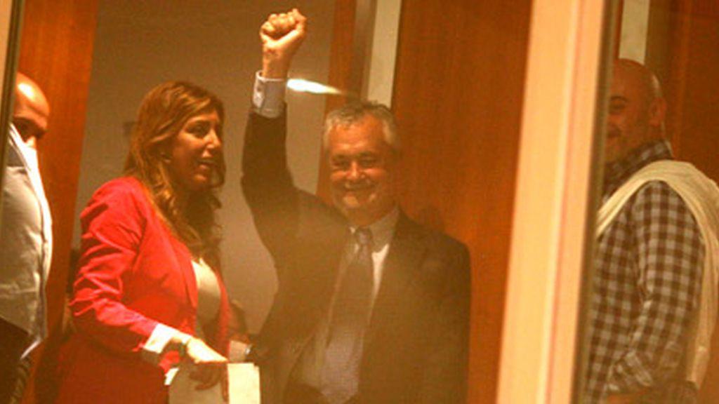 Griñán celebra los resultados en Andalucía
