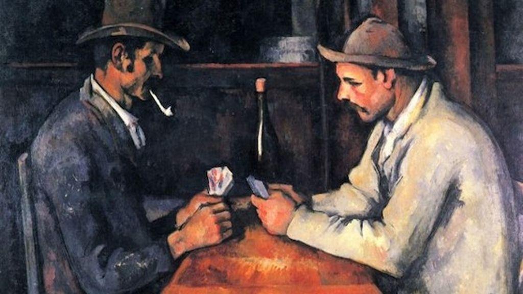 """'Los jugadores de cartas"""", cuadro de Paul Cezanne"""