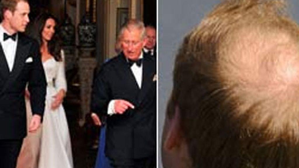 Imagen del príncipe Carlos, el príncipe Guilllermo y la duquesa Catalina.