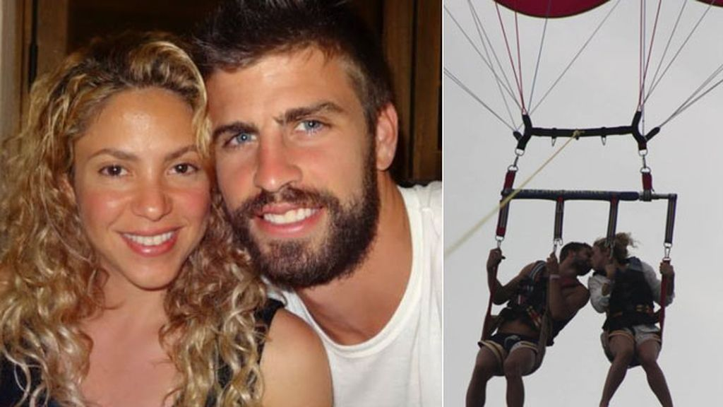 También compartieron su amor surcando el cielo en paracaídas