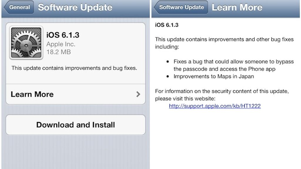 iOS 6.1.3, sistema operativo iPhone