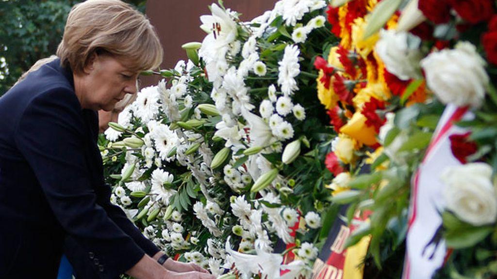 Angela Merkel conmemora el 50 aniversario de la construcción del Muro de Berlín