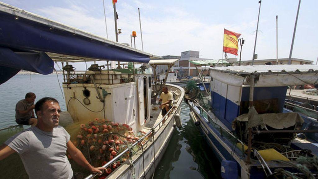 Pescadores en Gibraltar