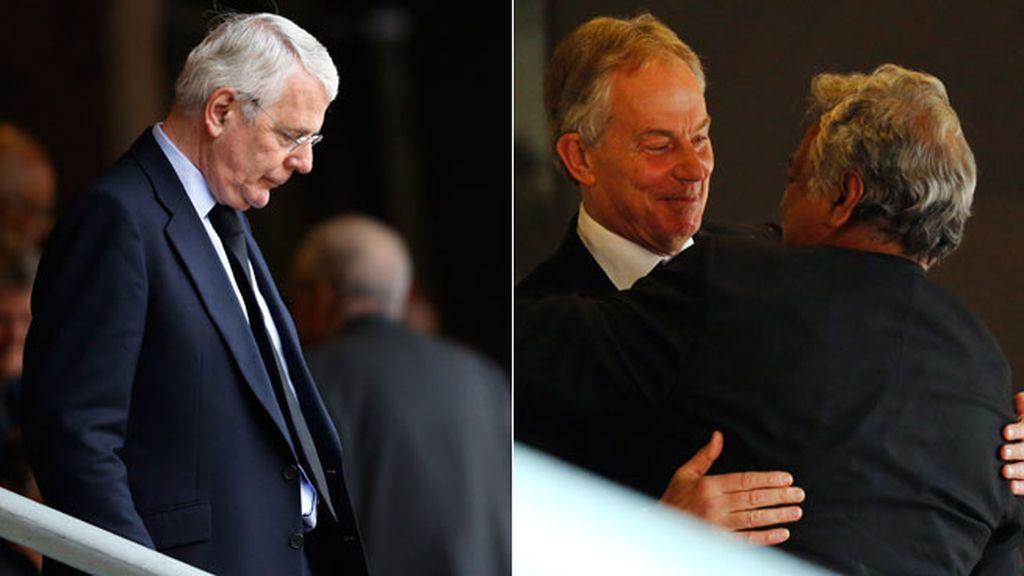 John Major y Tony Blair se unen a la despedida de Madiba