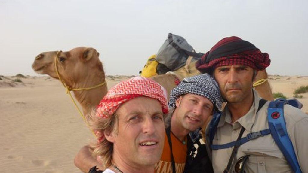 Los tres componentes del Desafío en Omán, Jesús, Emilio Valdés y Rafa Lomana