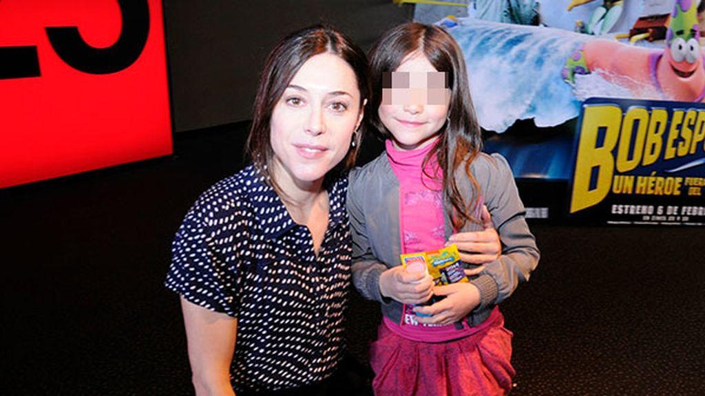 Ruth Díez acudió con su pequeña a disfrutar de las aventuras de Bob Esponja
