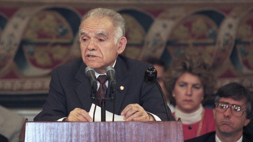Imagen de archivo del ex primer ministro israelí Isaac Shamir.