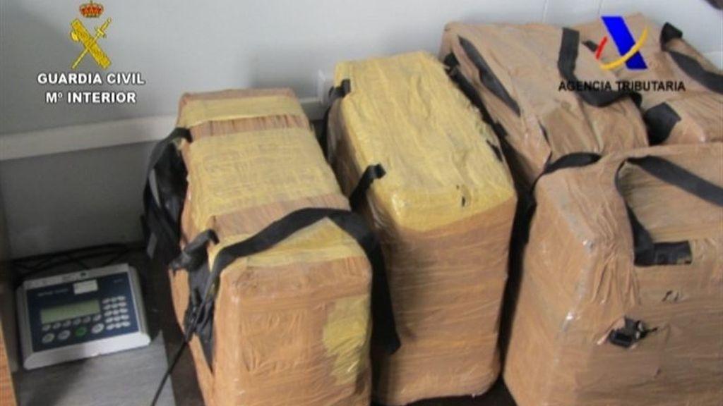 Intervienen 227 kilos de cocaína ocultos en un contenedor de bananas en Algeciras