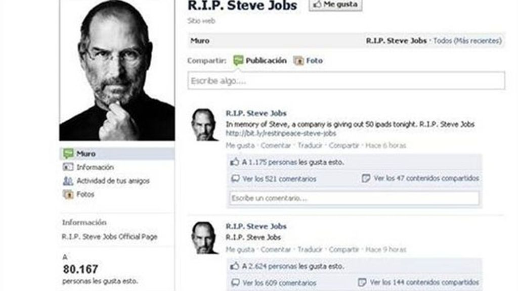 Página maliciosa con la muerte de Steve Jobs usada como gancho por ciberdelincuentes