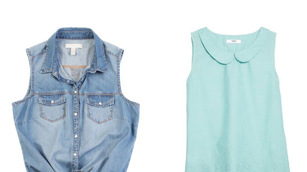 Blusa anudada vs. blusa lady