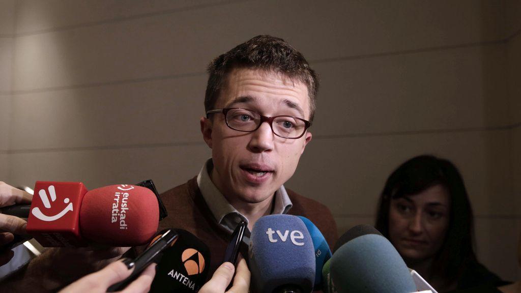 El portavoz parlamentario de Podemos, Íñigo Errejón, en el Congreso