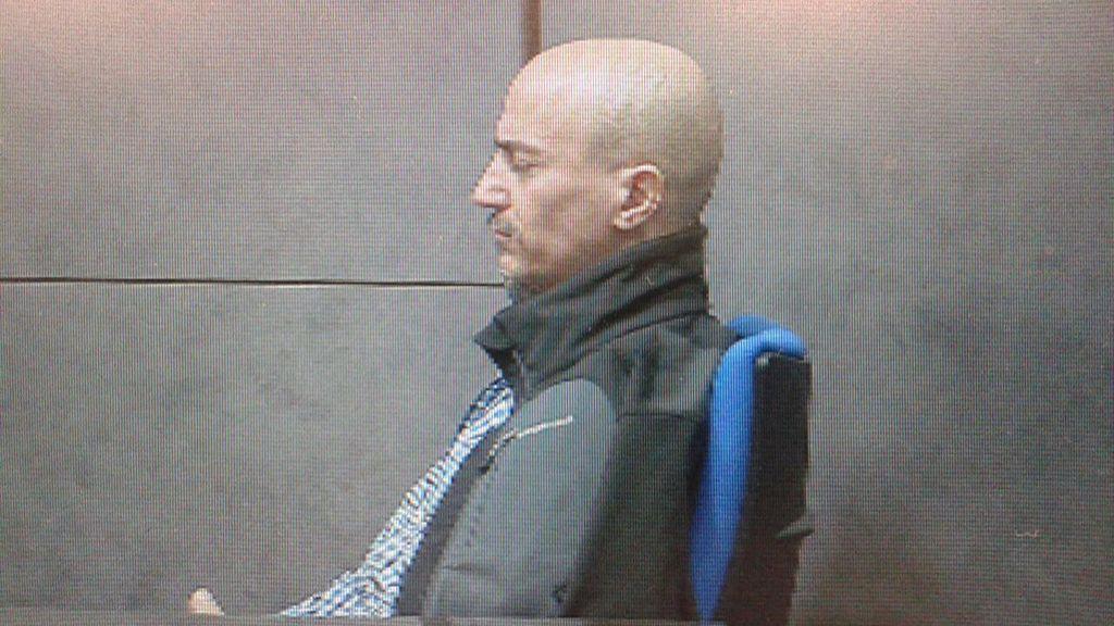 El falso monje shaolín durante el juicio