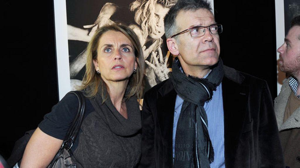 Los padres de Gerard Piqué no quisieron perderse la exposición