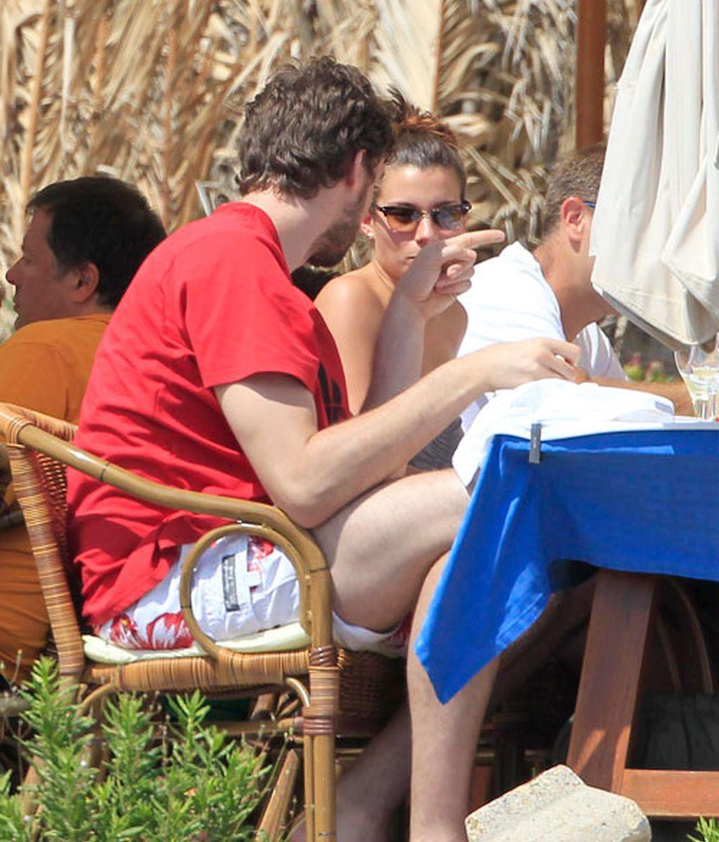 Las vacaciones de Gasol y Silvia