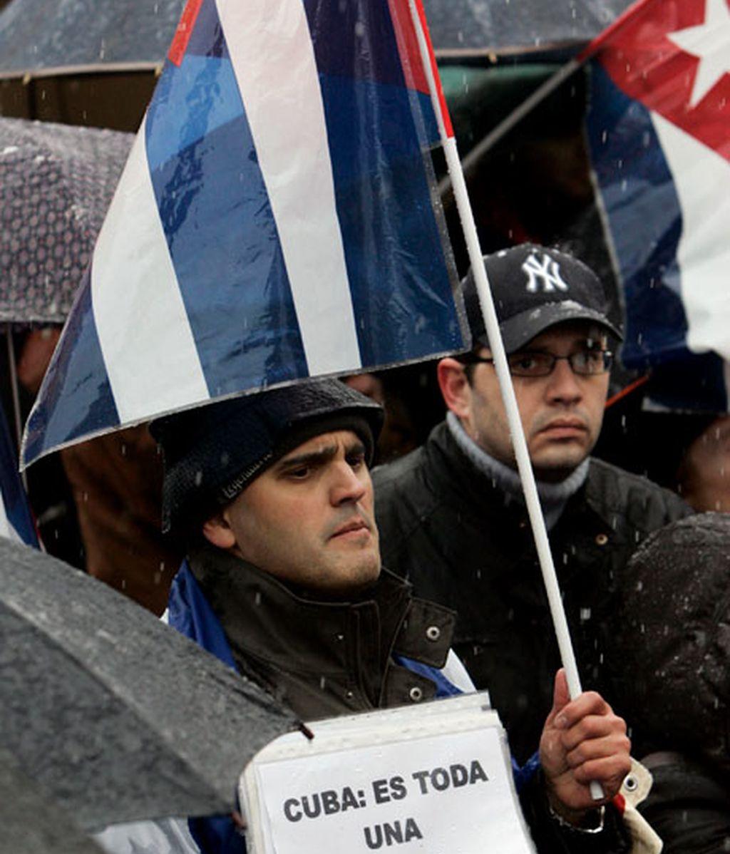 Manifestación en Madrid contra el régimen de Castro