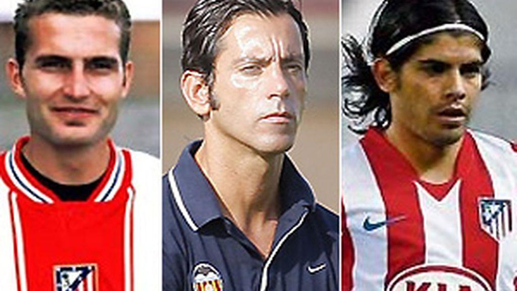 Rubén Baraja, Quique Sánchez Flores y Ever Banega han pasado por ambos equipos. FOTOS: Archivo.