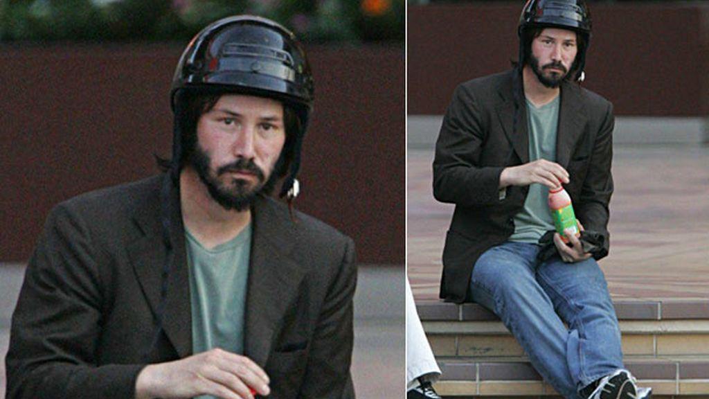 Triste, hasta con el casco puesto