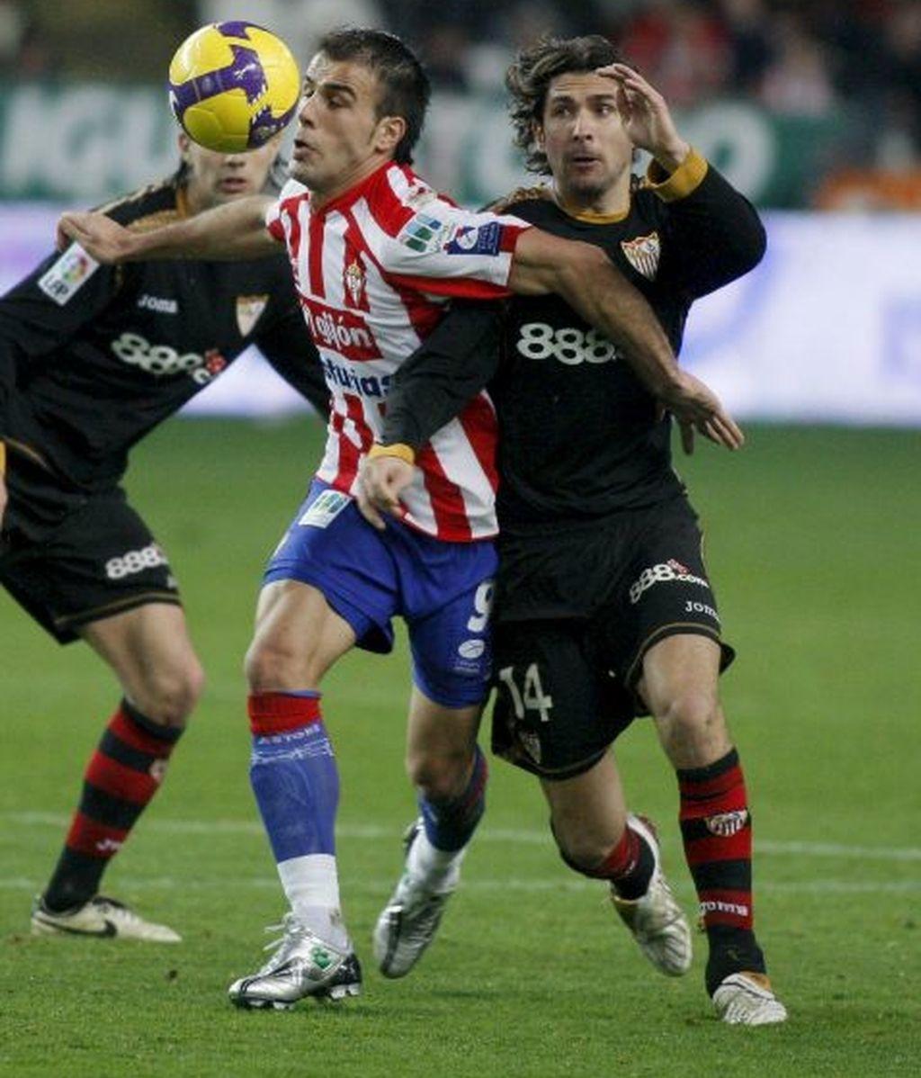 1-0. El Sporting sorprende al Sevilla en un gran partido defensivo
