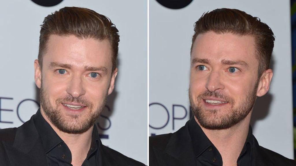 Justin Timberlake también lució la tendecia en los People's Chice Awards