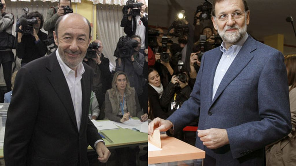 Rubalcaba y Rajoy ya han votado