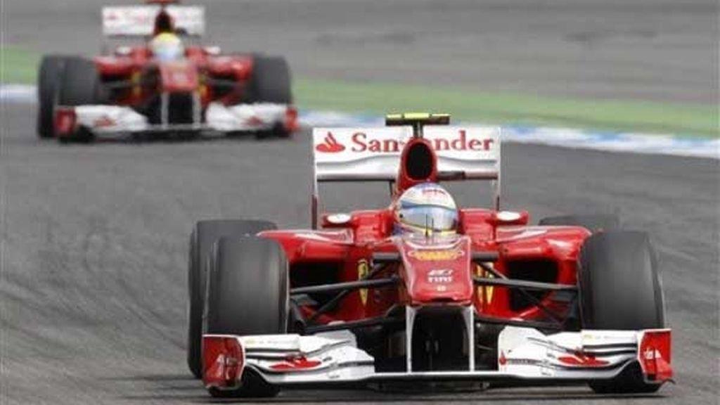Alonso se puso líder a falta de 18 vueltas para el final