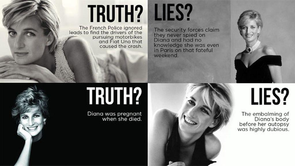 'Verdad, mentiras, Diana' afirma que Lady Di estaba emabarazada el día de su muerte