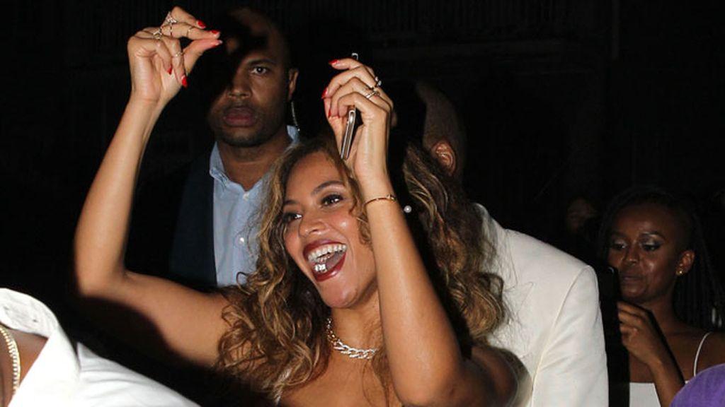 Beyoncé no paró de bailar durante la celebración