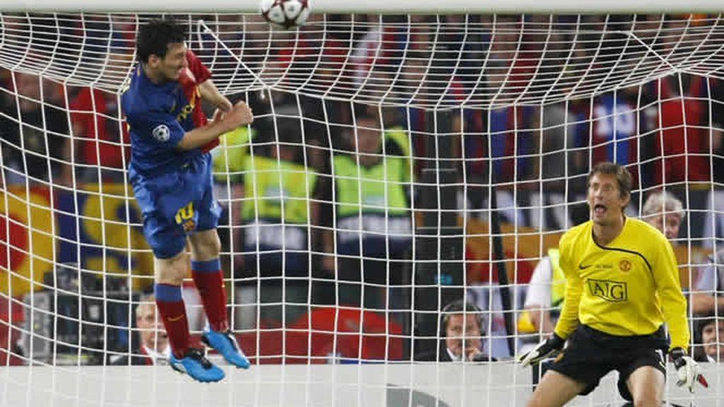 Soberbio gol de Messi