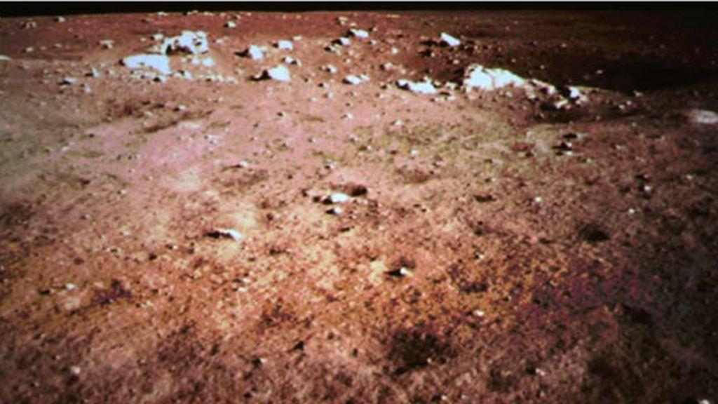 sonda china,imagen panorámica,Luna,Chang'e-3
