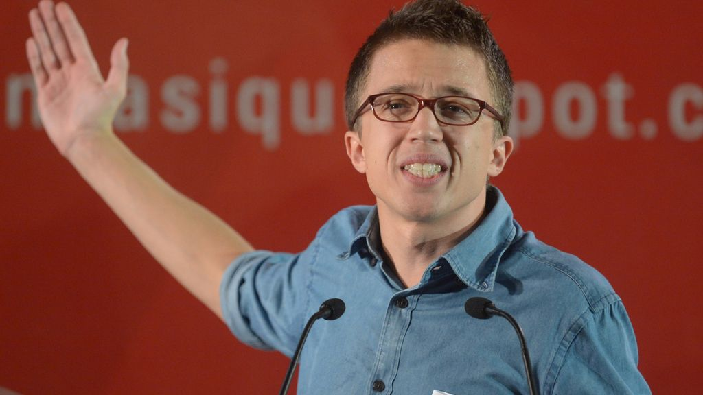 Errejón durante la campaña catalana