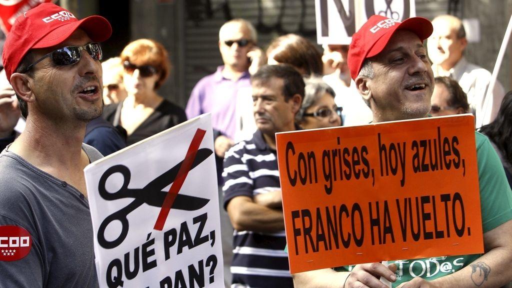 Manifestación de la Cumbre Social contra los recortes en Madrid