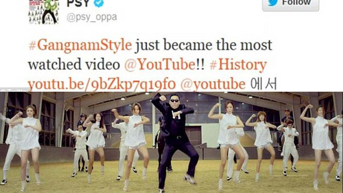 'Gangnam Style', el video más visto en Youtube de todos los tiempos
