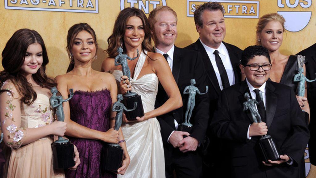 La serie 'Modern Family' sigue con su racha de éxito y recibió el galardón al mejor reparto de comedia