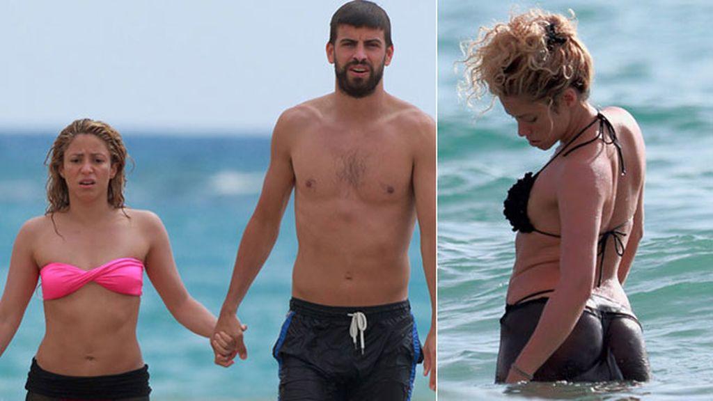 Shak estrenó bikinis y recuperada figura junto a su chico