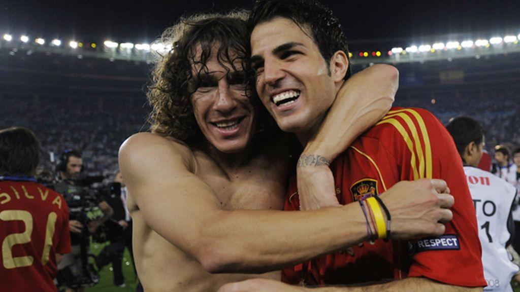 Complicidad con su amigo Carles Puyol