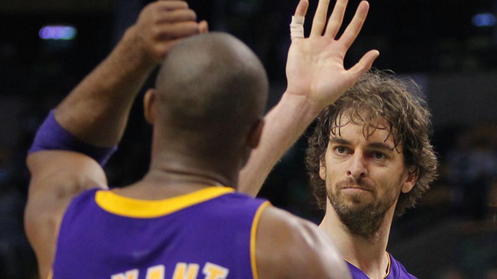 Los Lakers se imponen en Boston