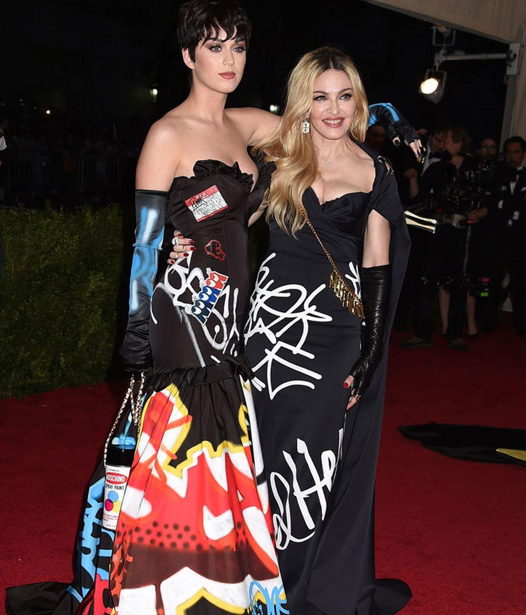 Katy Perry y Madonna vestidas por Moschino