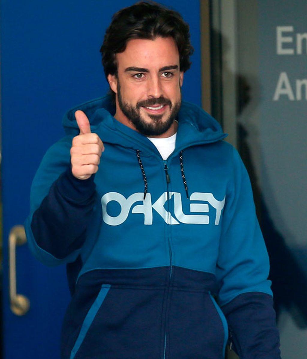 Fernando Alonso sale del hospital
