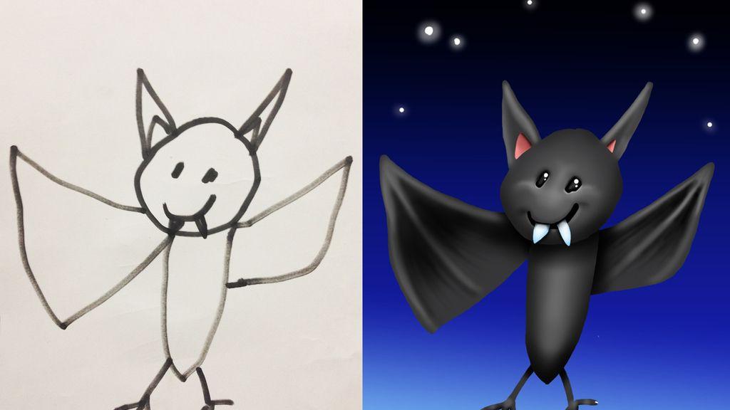 Los hijos dibujan bien, el padre mejor